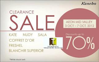 Kanebo Clearance Sale 2012
