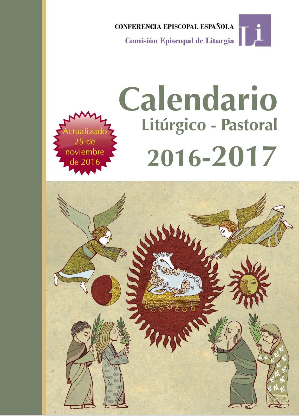 CALENDARIO LITÚRGICO 2016-2017
