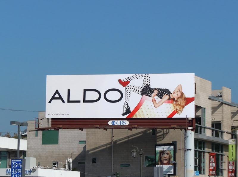 Aldo Shoes polka dot billboard
