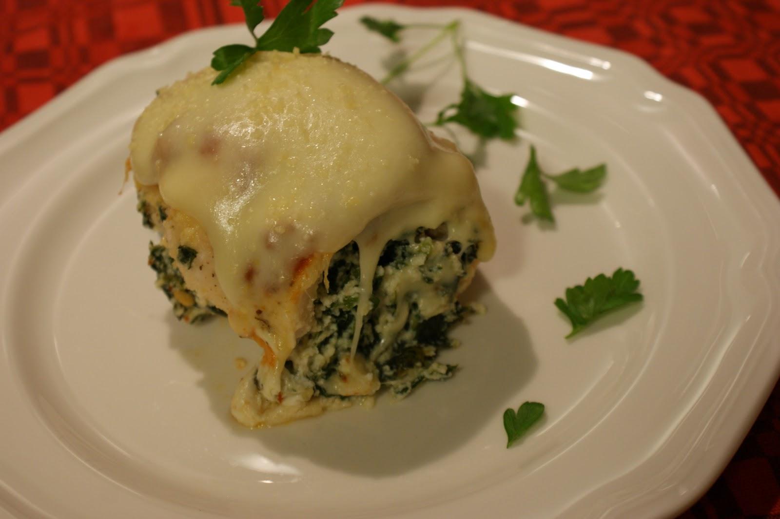Chicken Rollatini With Spinach Alla Parmigiana Recipe — Dishmaps