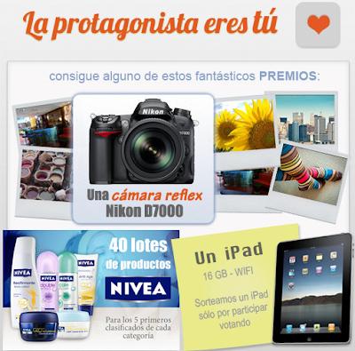 premios ipad camara de fotos Nikon lote de productos de belleza Nivea promocion enfemenino.com Mexico 2011