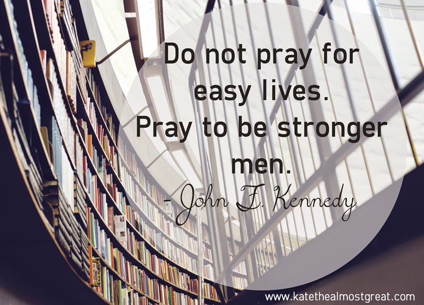 JFK inspirational quote about strength