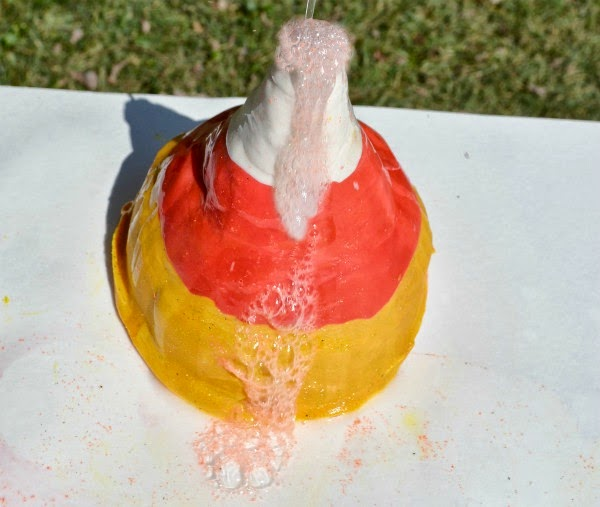Candy corn volcano FUN!