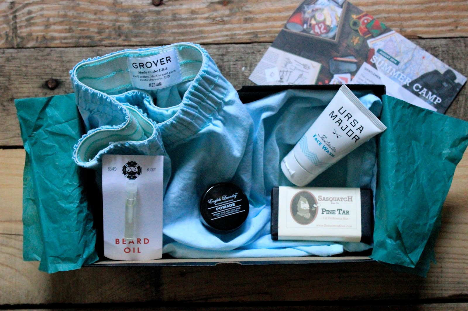 Birchbox Man, Ursa Major, Grover, English Laundry, Beard Buddy, Dr. Squatch