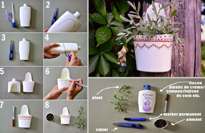 Small Flower Pot Made From Empty Shampoo Bottle @ Low Cost Creative Idea  For Home Decoration.