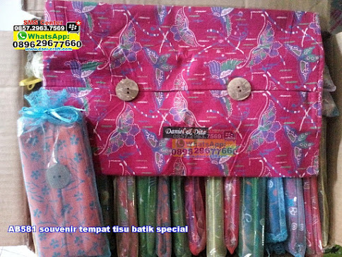souvenir tempat tisu batik special jual
