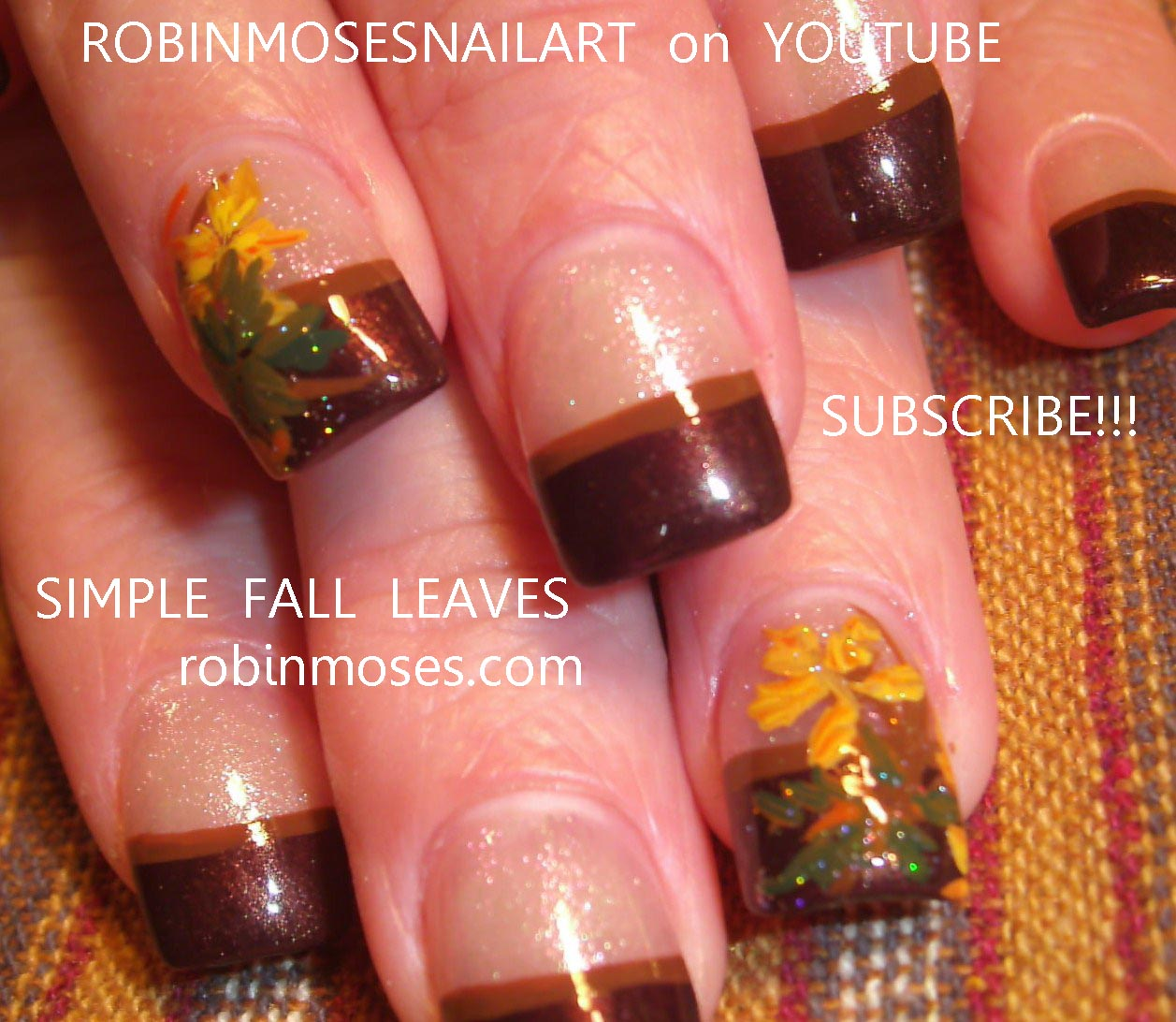 Nail Art Design: simple autumn leaves, autumn leaves, fall leaves ...