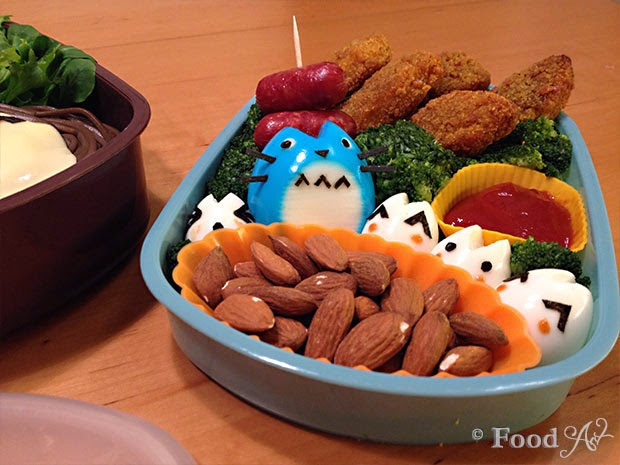 Wachteleier Totoro Bento (Charaben) - Food Art
