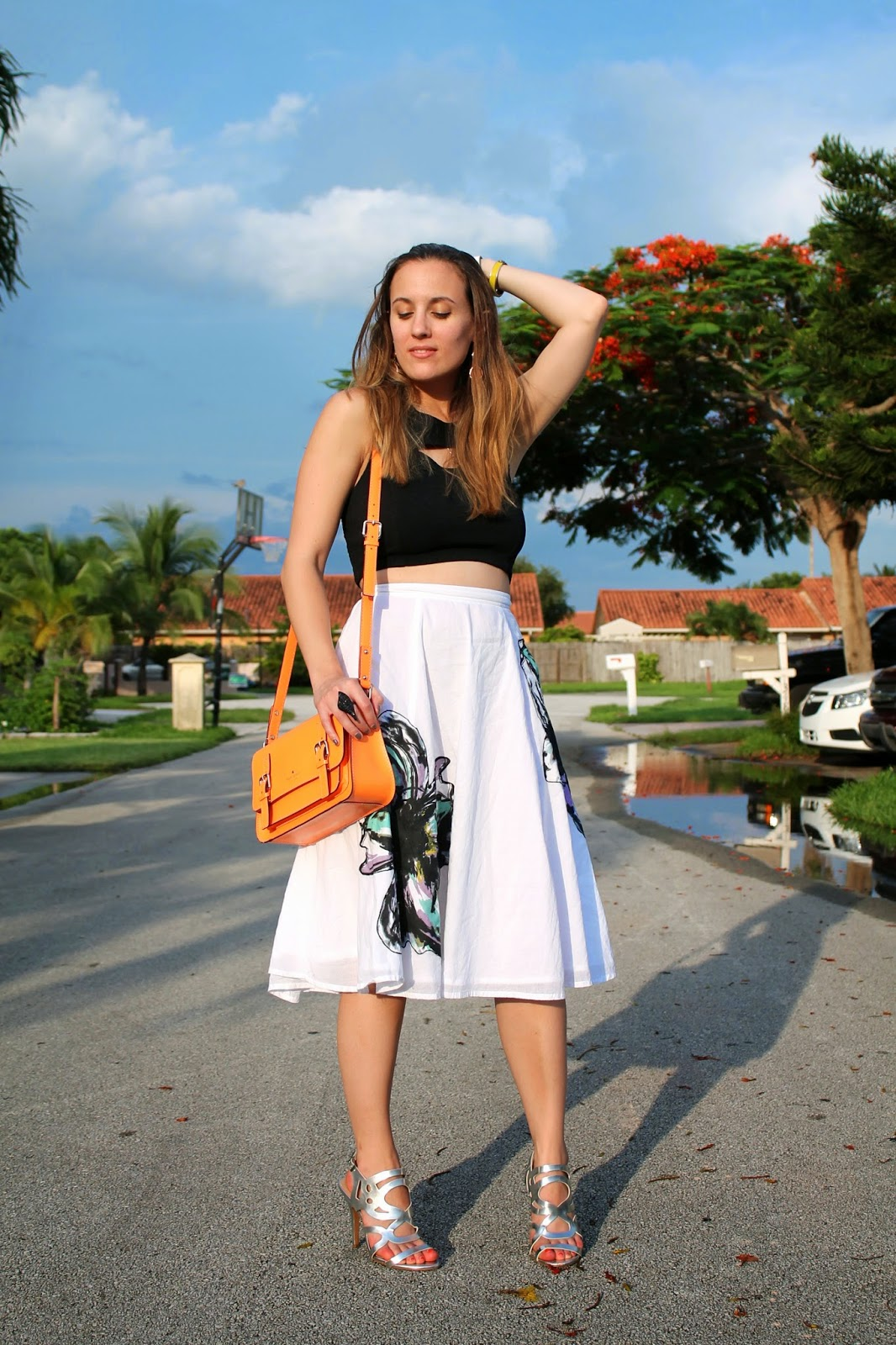 Miami Swim Week, MBFW Swim, LF Stores, eShakti, BCBGeneration, Kate Spade, Target, midi skirt, metallic, fashion week, Miami, Miami fashion blogger, street style