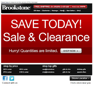 Click to view this Aug. 19, 2011 Brookstone email full-sized