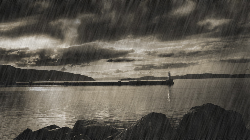 Create rain effect-Photoshop Tutorial