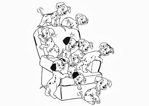 101 Dalmatians Puppy Coloring Pages