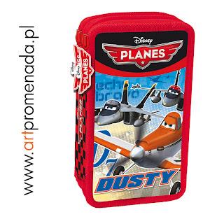 planes samoloty piórnik z wyposażeniem piornik planes pixar