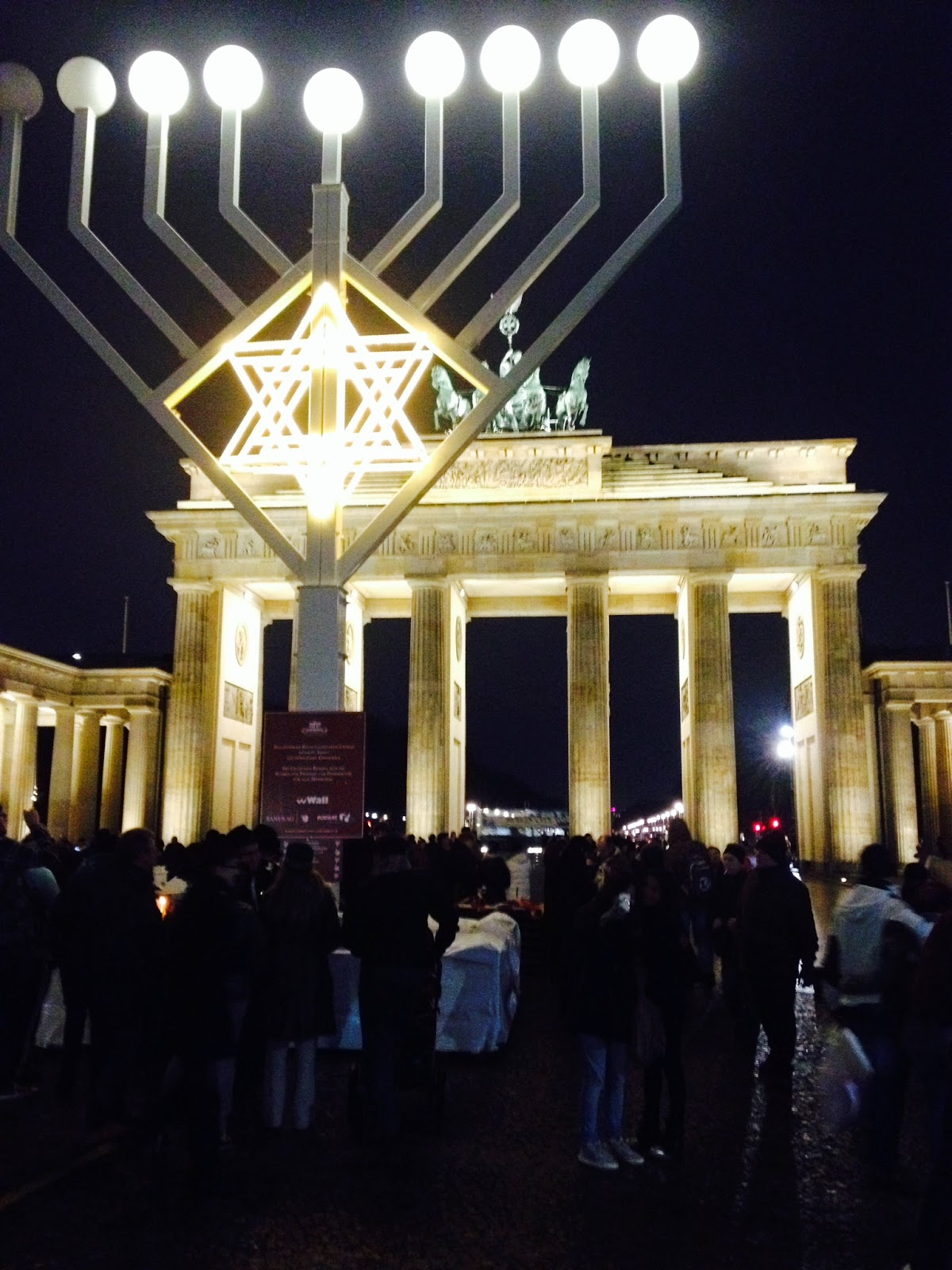 Brandenburg gate menorah