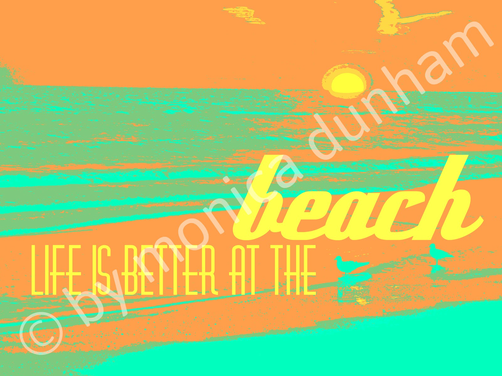 Dunham Design Company: Beach Travel Posters