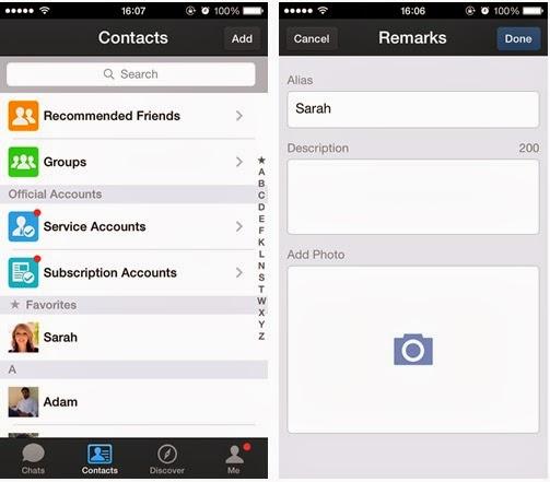 CONTACT LIST CUSTOMIZATION WeChat 5.2 Update