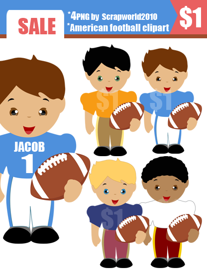american football clipart set 4 png by scrapworld2010American Football Clipart