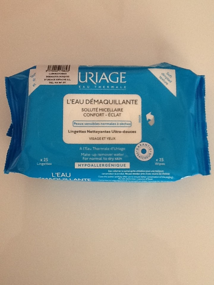 Uriage cleansing wipes