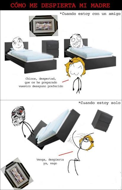 Cómo me despierta mi madre
