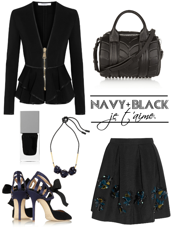 navy black outfit ootd fashion bloggers