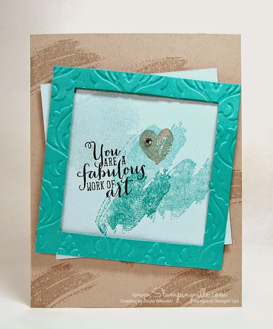 Stampingville: YOU are a fabulous work of art! #cardmaking #crafts #StampinUp