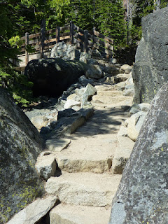 Stairs along Lower Eagle Falls Trail