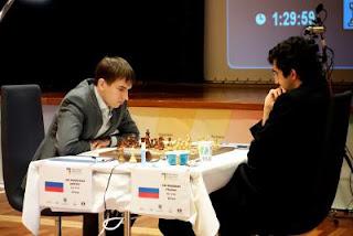 EEchecs à Tromsø : Kramnik vs Andreikin lors de la 1e partie © Paul Truong