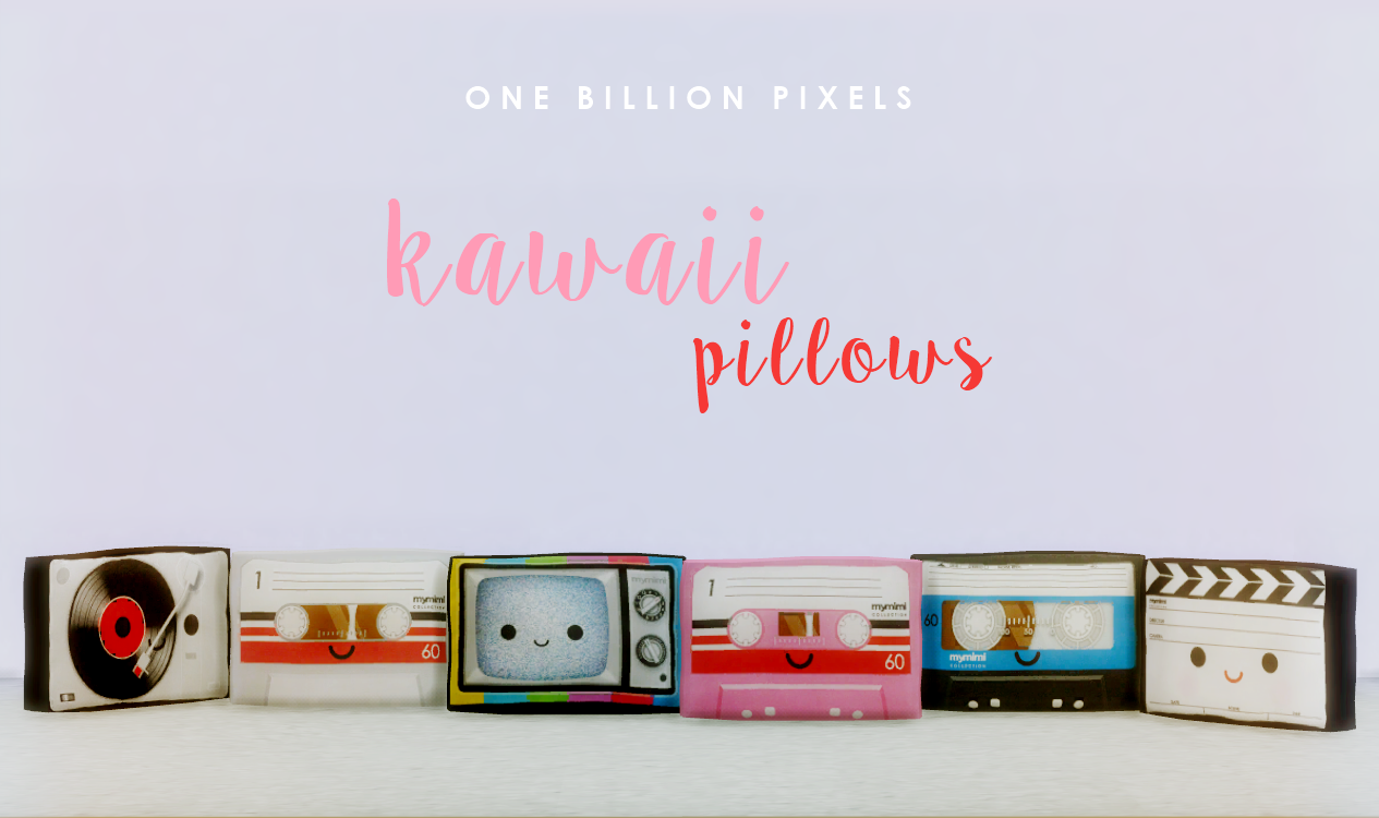 Kawaii Pillows (The Sims 4) - One Billion Pixels