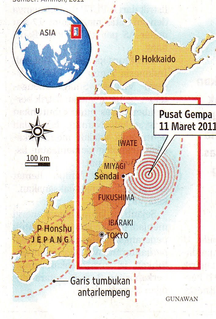 fukushima nuclear power plant on map. Fukushima Nuclear Power Plant