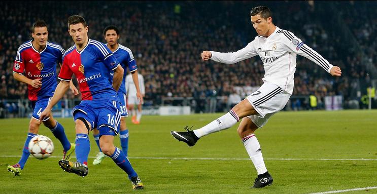Gol de Cristiano Ronaldo   Basilea 0-1 Real Madrid