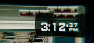 digital clock on computer screen