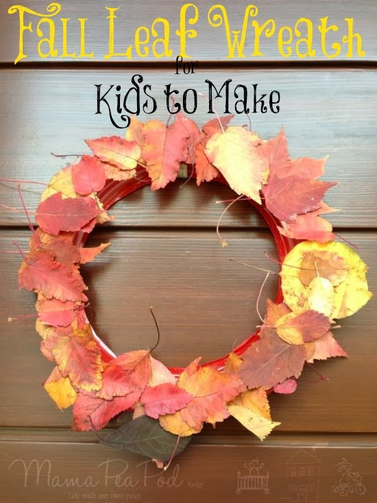 fall leaf wreath for kids to make