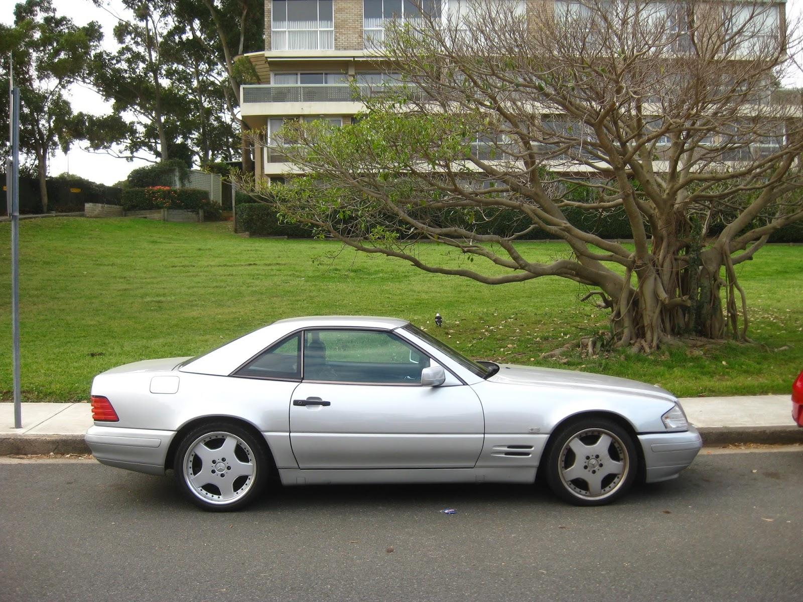 aussie old parked cars 1996 mercedes benz r129 sl500. Black Bedroom Furniture Sets. Home Design Ideas