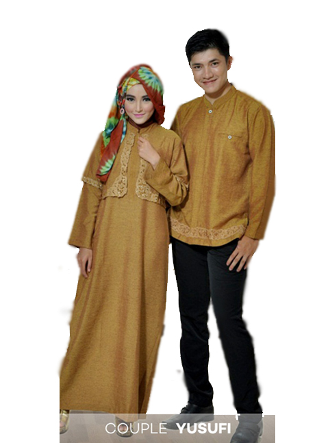 Gamis model terbaru ecer harga grosir Baju couple gamis dan koko