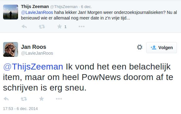 Echte Jan Roos (PowNed) haalt ongenadig hard uit naar Dominique Weesie en Rutger Castricum over reportage Onno Hoes.