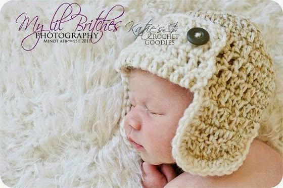 Free Crochet Pattern Aviator Hat : Free Aviator Crochet Hat Pattern - Katies Crochet Goodies