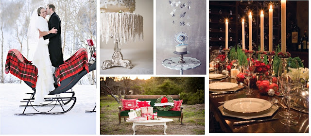 decorazioni e allestimenti matrimoni invernali winter wedding decorative elements inspiration board