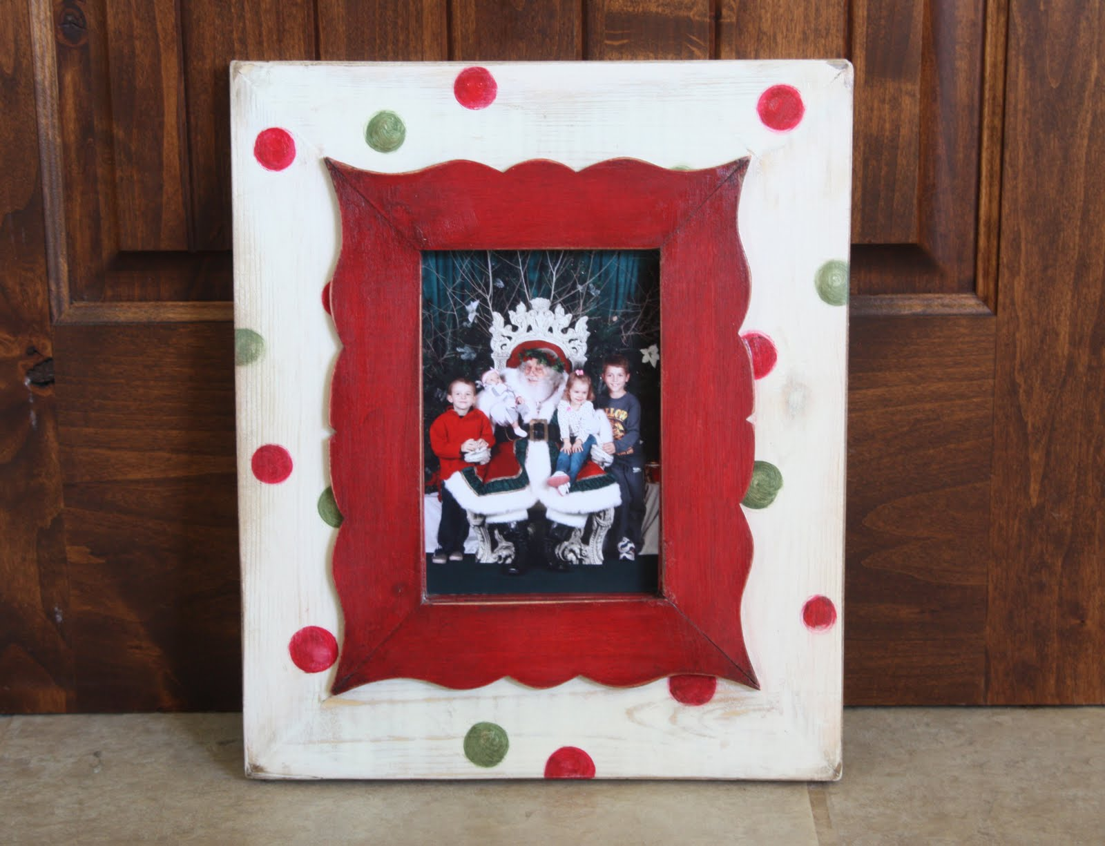 christmas 5x7 frame crown design