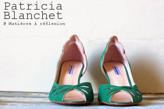 Escarpins verts Patricia Blanchet Findouce