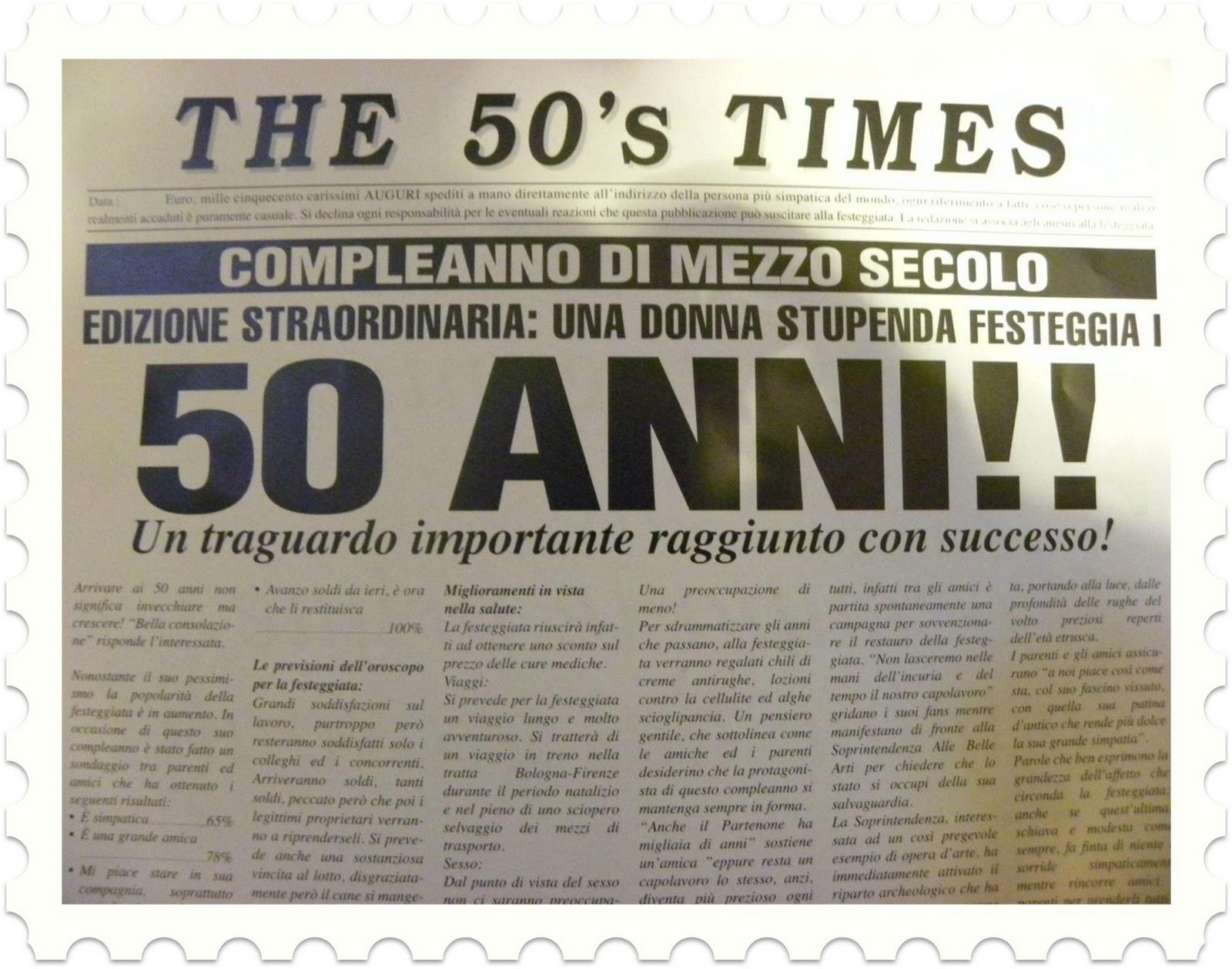 Auguri 50 Anni Compleanno Nancy Hobby Blog