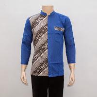 Baju Kemeja Hem Batik Pria