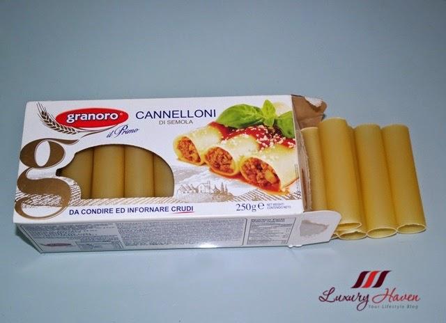 tasty italian granoro cannelloni pasta recipe
