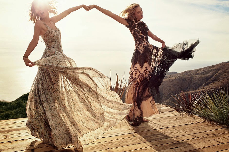 Taylor Swift and Karlie Kloss March 2015 Vogue