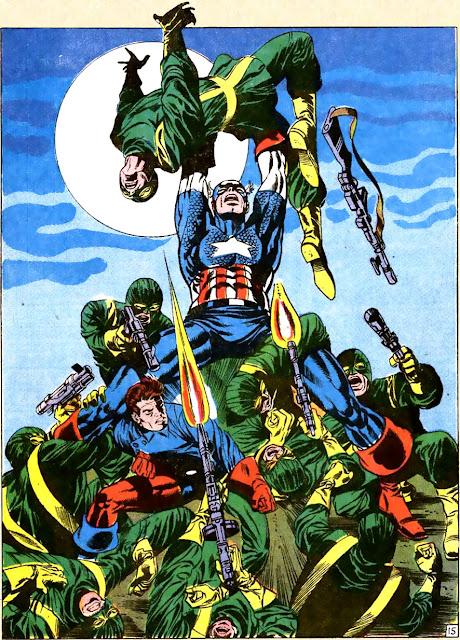 Dibujo del Capitan America de Jim Steranko