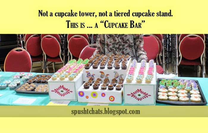 Cupcaje Displays With A Tier Cake