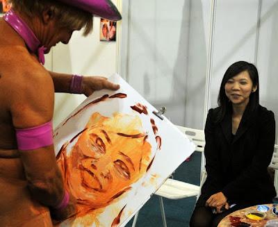 Penis showing through paints