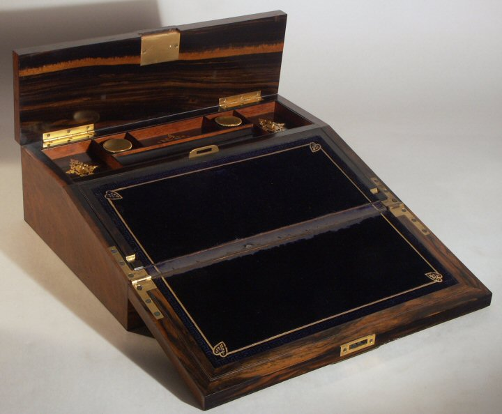 A 19th C English writing slope - Parvum Opus: Anatomy Of A Well-Dressed Desk, Part 2: Stationery
