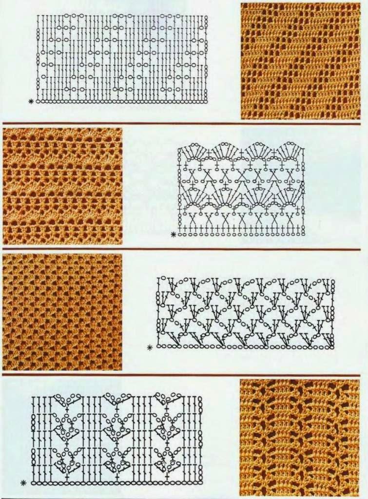 8 puntos para tejer al crochet