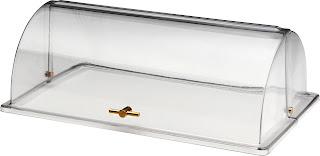 Capac Rolltop GN 1/1 pliabil, plastic transparent cu maner poleit 530x325x(H)180 mm
