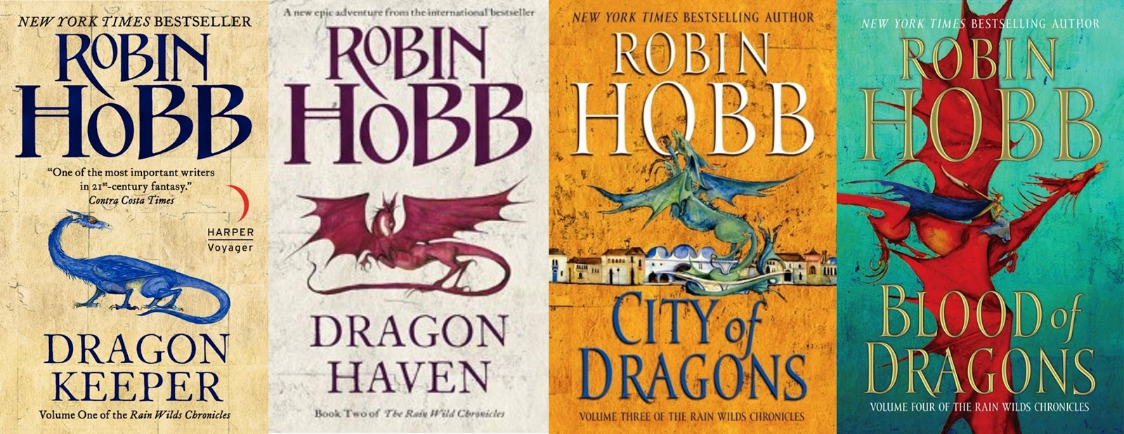 All 4 book covers of Rain Wilds Chronicles by Robin Hobb